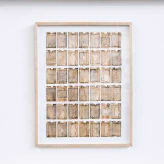 In memory of, 50 photos of my grandfather, wax paper wallet envelopes, 2013