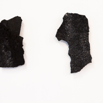 Tar pieces, 9 in total, 2013